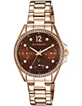Giordano Analog Brown Dial Women's Watch - 2715-44