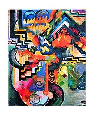 LegendArte  Wandbild Farbige Komposition (Hommage a Johann Sebastian Bach) von August Macke