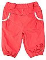 Infant Girls Trouser, Coral (0-6 Months)