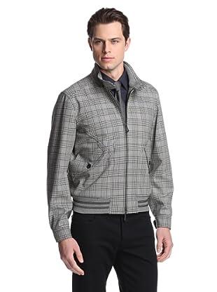 Tom Ford Men's Glen Plaid Jacket (Black/White)