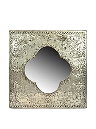 Tin Punched Mirror, Silver