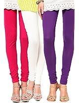 Castle Women's Leggings (Pack Of 3) (Multi_Free Size)
