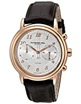Raymond Weil Mens 4830-PC5-05658 Maestro Rose Gold-Tone Stainless Steel Automatic Watch with Leather Band