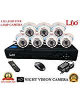 AHD LIO 8CH DVR + AHD 1.3 Megapixel High Resolution LIO 36IR DOME CAMERA 7pcs COMBO