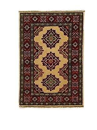 L'EDEN DEL TAPPETO Alfombra Uzebekistan Super Rojo/Multicolor 59 x 90 cm