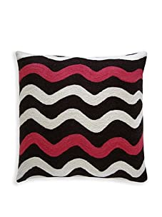Judy Ross Textiles RicRak Pillow (Chocolate/Cream/Orchid)
