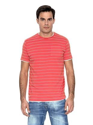 Springfield Camiseta Raya Doble (Rojo)