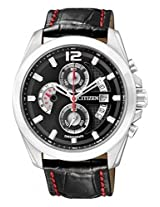 Citizen Eco-Drive AN3420-00E Black Round Dial Chronograph Men Watch