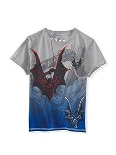 Kid's Republic Boy's Close Look Batman T-Shirt (Silver)