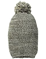 D&Y Women's Marled Beanie with Pom-Pom