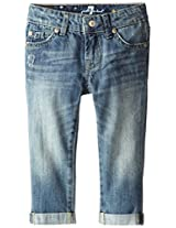 7 For All Mankind Little Girls' Skinny Crop and Roll Jean