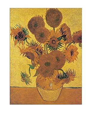 ArtopWeb Panel de Madera Van Gogh Sunflowers 80x60 cm