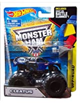 2015 Hot Wheels Monster Jam Cleatus #26 Includes Snap-On Battle Slammer
