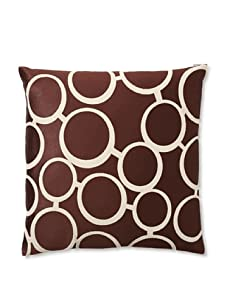 Trina Turk Embroidered Spectacles Pillow (Brown)
