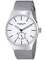 Stuhrling Original Classic Albion Analog Silver Dial Men's Watch - 125G.33112