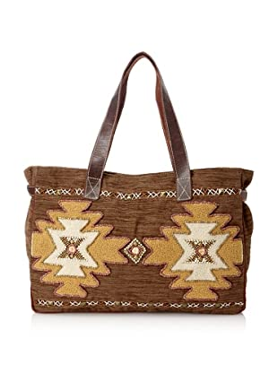Mare Sole Amore Women's Tribal Tote Bag (Brown)