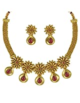 Ethnic Indian Bollywood Jewelry Set Traditional Fashion Necklace SetABNE0344MA