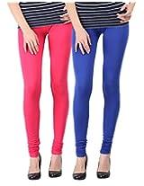 Blackmilan Women's Leggings (ZBMWL-1004-Pink-Rblue_Multi-Coloured_X-Large)