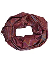 Ganesh Handicrafts Women's Silk Shawl (GH092, Red)