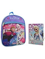 """Disney - Frozen 2 Pieces Gift Set 10"""" Mini Backpack with Diary with Lock"""