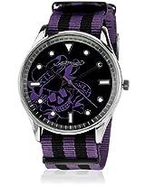 Eh 1119 Pu Two Tone/Black Analog Watch Ed Hardy