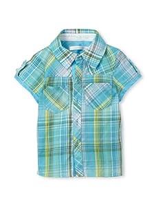TroiZenfantS Baby Plaid Shirt (Turquoise)