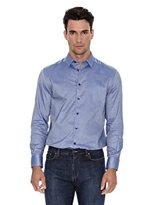 Versace Camisa Lisa (Azul medio)