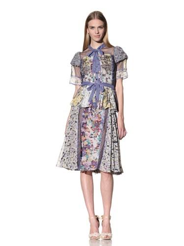 Byron Lars Women's Mixed Floral Button-Front Blouse (Multi)