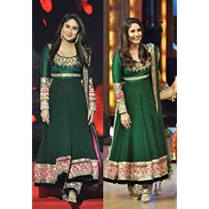 High5Store Kareena Kapoor Anarkali Suit - Green