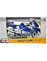 Maisto Suzuki Gsx 1300R Hayabusa Scale-1:12 Die Cast Toy Motorcycle (Blue)