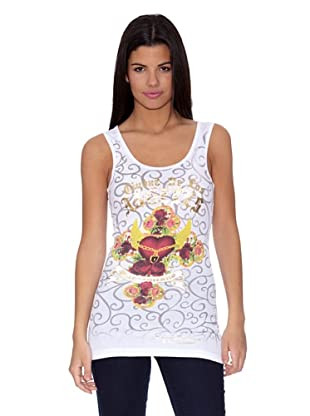 Ed Hardy Camiseta WomenŽS TunicŽTank (Blanco)
