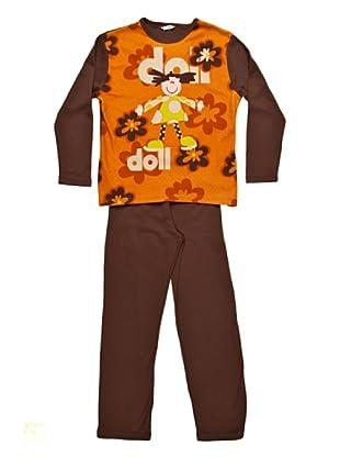 Bkb Pijama Infantil Niña Cuello Redondo Estampado (marrón)