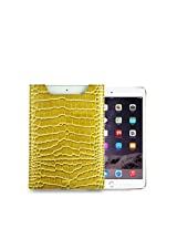 Gogappa 8.5 inch iPad Mini Sleek Croc Embossed Rich Leather Sleeve Pouch Case Cover (Gold)