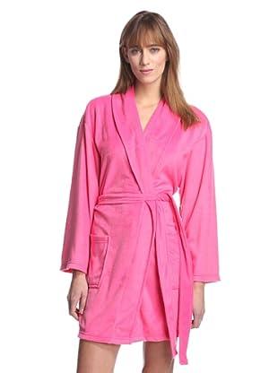 Aegean Apparel Women's Solid Minky Robe (Fuchsia)