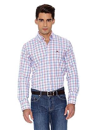 La Española Camisa Fitted Check (Rosa / Azul)