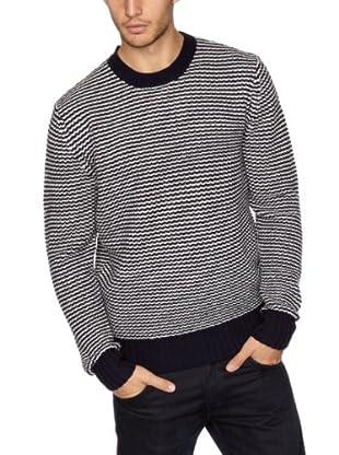 Crew Clothing Jersey Sly (Azul Marino / Blanco)