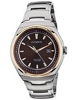 Citizen Analog Brown Dial Men's Watch - AW1255-50W