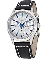 Men'S Gentlemen Silver Dial Black Leather (6662-5030-G3)
