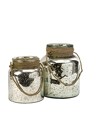 Set of 2 Bretton Jars with Jute Handles