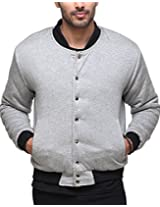 Yepme Men's Grey Polyester Jacket-YPMJACKT0179_XXL