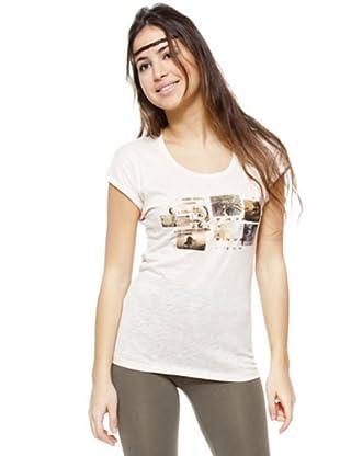 Ikks Camiseta Estampada (rosa palo)
