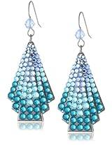 TARINA TARANTINO Hematite Fan Blue Drop Earrings