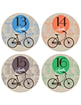 Lucy Darling Shop Monthly Baby Sticker - Gender Neutral - Bicycle - Months 13-24