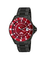 Invicta Pro Diver Grand Ocean Gmt Red Dial Gunmetal Ion-Plated Men's Watch - In18242