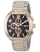 Le Chateau Men's 5426M_BLK Sports Dinamica Collection Two-Tone Watch