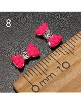 10pcs Metal Rhinestones Crystal 3D DIY Nail Art Tip Decoration (Color:#8)