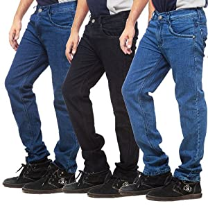 NX Jeans set of three--Blue-Black-Blue