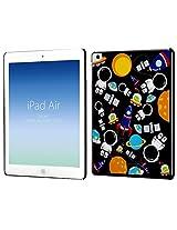 Case for Apple iPad Air, Cruzerlite case for Apple iPad Air Designer Print case -Space and Astronaut Pattern