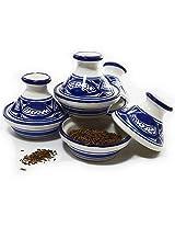 Le Souk Ceramique Qamara Design Tagines, Mini, Set of 4