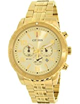 Citizen Chronograph Gold Dial Men's Watch - AN8132-58P